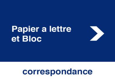 Papier a lettre et Bloc