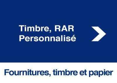 Timbre, RAR Personnalisé